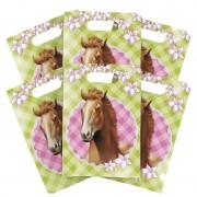Merkloos 6x Paarden thema feest verjaardag snoepzakjes