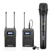 Sistem wireless UHF Boya BY-WM8 PRO-K4 cu Microfon dinamic Transmitator si Receiver