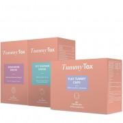 TummyTox Paquete Efecto adelgazante para perder grasa y el agua retenida. 60 cápsulas de Flat Tummy Caps + 10 sobres de la bebida drenante + 15 sobres de la bebida quemagrasa