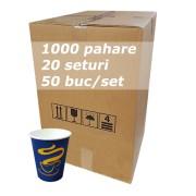 Pahar carton 8oz Blue SBP bax 1000buc