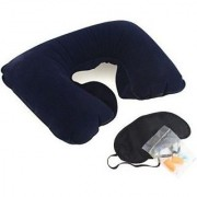 Three Tourists Treasures 3 In 1 Travel Set neck Cushion Eye Mask Ear Plugs