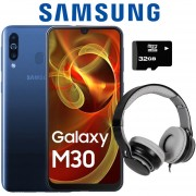Celular Samsung Galaxy M30 - 3GB + 32GB + Micro SD 32GB y Diadema