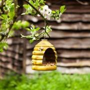 Kerámia madáretető méhkas alakú 17 cm
