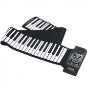 88 rollos flexibles electronicos de silicona roll up teclado de piano - negro