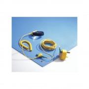 ESD-Tischmatten-Set LxB 3000 x 1200 mm blau