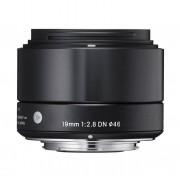 Sigma Obiettivo 19mm F 2.8 Dn (a) Art Black Attacco M4 3