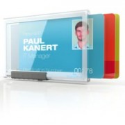 > Portabadge PushBox Trio - 3 tessere inseribili - 5,4x8,7 cm - Durable - conf. 10 pezzi (unit