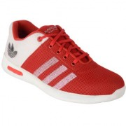 1AAROW 126 WHITE+RED CASUAL SHOES