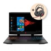 """Лаптоп HP Omen 15-dc0034nu (4FP41EA_1KF76AA) с подарък HP Omen 800 Headset, четириядрен Coffee Lake Intel Core i5-8300H 2.3/4.0 GHz, 15.6""""(39.62 cm) Full HD Display & GeForce GTX 1060 3GB(HDMI), 8GB DDR4, 1TB HD, 128GB SSD, Free DOS"""