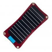 Quazar Q-Solar Panel 7W-os napelemes töltő A4 méretben, piros