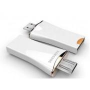 Genuine Samsung Ultra-fast Performance OTG type USB with 32GB MicroSD Card - Samsung Micro SD (White)
