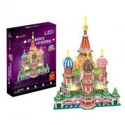 CubicFun L519h St. Basil's Cathedral (with LEDs) 3d Puzzle, 224 Pieces