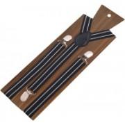 Peluche Y- Back Suspenders for Men, Boys(Black, White)