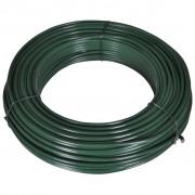 vidaXL zöld drótkerítés összekötő acél drót 2,1/3,1 80 m