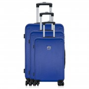 1 3 Valises 4 roues Ashley 50x60x69cm bleues