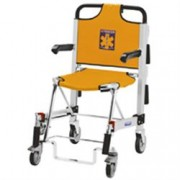 sedia portantina da evacuazione a 4 ruote spencer 455/b in alluminio e