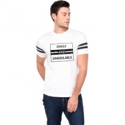 TRENDS TOWER Half Sleeve Round Neck Mens T-Shirt White Color Single And Unavailable Graphics Print
