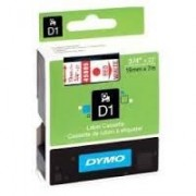 Dymo D1 Label Cassette 19mmx7m (SD45805) - Red on White