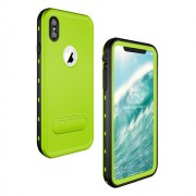 REDPEPPER Dot+ Series Dustproof Snowproof IP68 Waterproof Cell Phone Case with Kickstand for iPhone XS Max 6.5 inch - Green