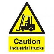 Unbranded Warning Sign Industrial Trucks PVC 15 x 20 cm