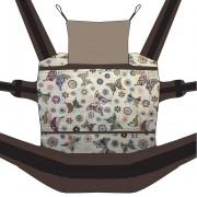 Nandu ÖKO Totyogó Csatos állítható hordozó - Pillangós barna pánttal