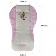 EB Cartoon Cochecito Cojín Elástico Revestimiento Impermeable Silla Bebé/almohadillas De Asiento De Coche - Rosa