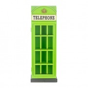 Cabine Telephone Verde Pequeno Cds Oldway 80x28x18