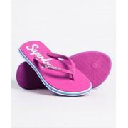 Superdry Neonfarbene Rainbow Sleek Flip-Flops S pink