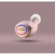 Adcom M1 - Wireless Bluetooth Mini Earbuds for All Smartphones iPhone and Android with Mic - One Piece (Rose Gold)