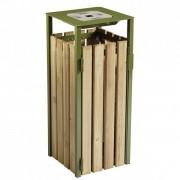 Atoutcontenant Cendrier poubelle bois d'extérieur