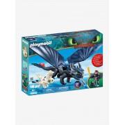 Playmobil 70037 Hiccup e Desdentado com Dragão bebé, da Playmobil azul escuro acinzentado