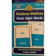 School Zone Bilingual Spanish English Basic Sight Words (Palabras Basicas) Flash Cards Grades K-1