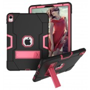 Shock Proof TPU + PC Hybrid Case with Kickstand for iPad Pro 11-inch (2018) - Black / Rose