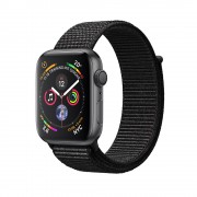 Умные часы Apple Watch Series 4 GPS 40mm Space Gray Aluminum Case with Black Sport Loop MU672 (Серый космос/черный)