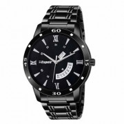 Espoir Analogue Stainless Steel Black Dial Day and Date Men's Boy's Watch - StromHammer