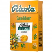 Queisser Pharma GmbH & Co. KG Ricola® Schweizer Kräuterbonbon Box Sanddorn ohne Zucker