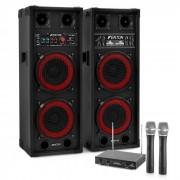 "Electronic-Star Karaokede karaoke ""STAR-Köpenick"" PA set de boxe actv, microfon de mână (PL-6525-2233)"