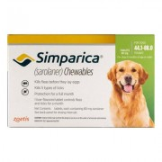 Simparica Chewables For Dogs 44.1-88 Lbs (Green) 6 Pack