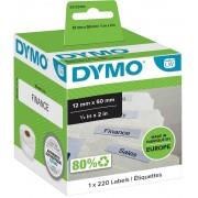 DYMO Hangmapetiketten 99017 Zwart op wit 12 x 50 mm 220 Etiketten