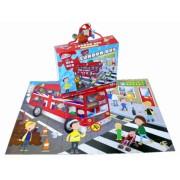 Puzzle de podea Plimbare cu autobuzul Grafix, 45 piese, 63 x 43 cm