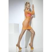 Rochie Net Lattice portocaliu neon
