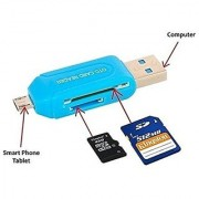 Universal Card Reader Micro USB OTG SD TF 4 In 1 For Mobile Phone Pc Computer USB 2.0 Memory Card Reader ( MULTI COLOR )