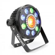 Beamz BX96 PAR 9x9W 6v1, RGBW-UV LED, 24xSMD-LEDky, COB технология, дистанционно управление (Sky-150.743)