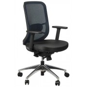 FOPOL - GN Swivel office chair GN-310/BLUE with seat sliding system and aluminum base