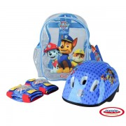 PAW PATROL - SET PROTECTIE in rucsac (CASCA, GENUNCHIERE, COTIERE)