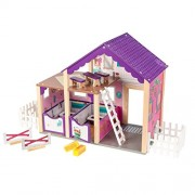 "KidKraft Deluxe Horse Stable Play Set, Multicolor, 24"" x 11.8"" x 20.6"""