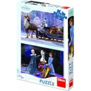 Puzzle 2 in 1 Dino Toys Frozen 77 piese Multicolor