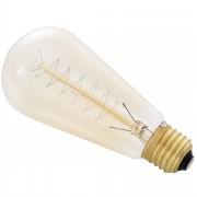 Крушка [in.tec]® Античен дизайн, тип Edison - E27 - 230V - Топлобял(2700 K) - ø58mm x M130mm