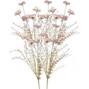 Shoppartners 5x Roze papaver/klaproos gedroogde kunstbloemen 53 cm