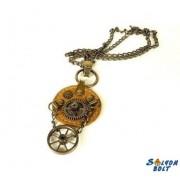 Steampunk nyaklánc (sötétbarna)